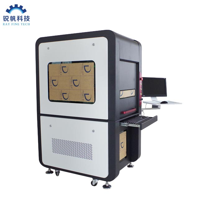 Ray Fine Full Closed JPT MOPA M7 20W 80W 100W 150W  200W Galvo Fiber Laser marking engraving Cutting Machine with Auto focus and cyclops camera position system